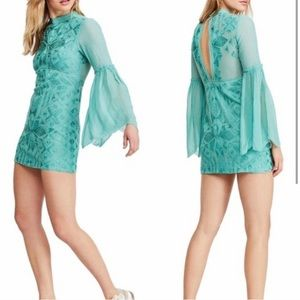 NWT Free People Cleo lace embriodered mini dress